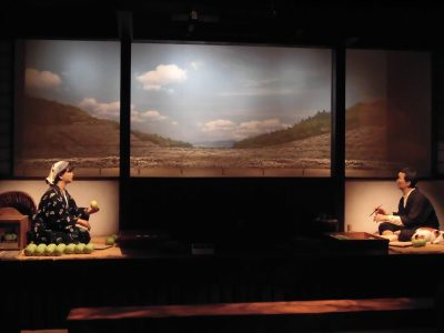 二十世紀梨記念館なしっこ館内の二十世紀梨ものがたり劇場